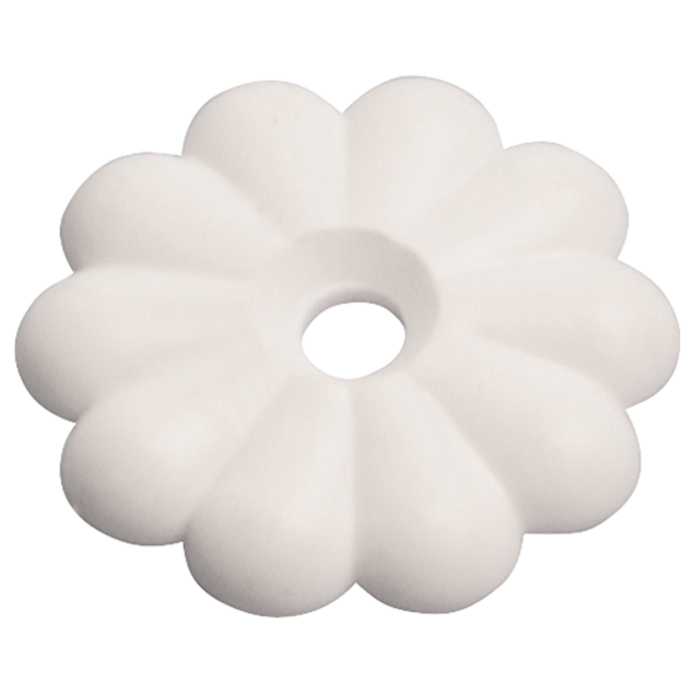 Image de WHITE ROSETTE w/SCREWS 15