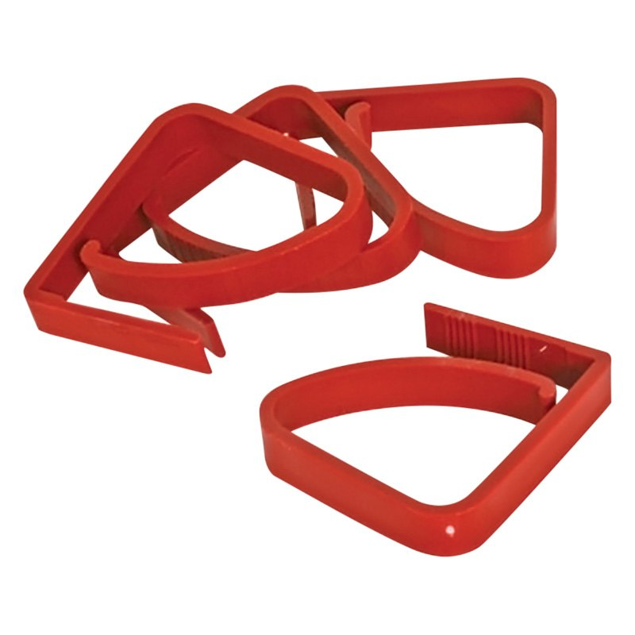 Image de TABLECLOTH CLAMPS-RED 4/C