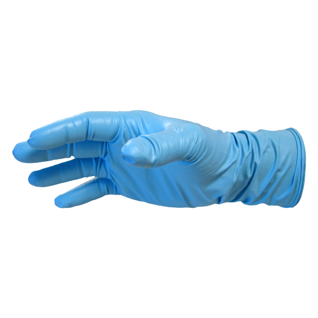 Image de 100 Gants de Nitrile - Grand - BLACK PAW Bleu